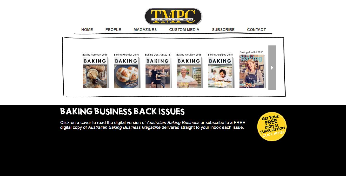 Baking Business Back Issues The Magazine Publishing Company TMPC