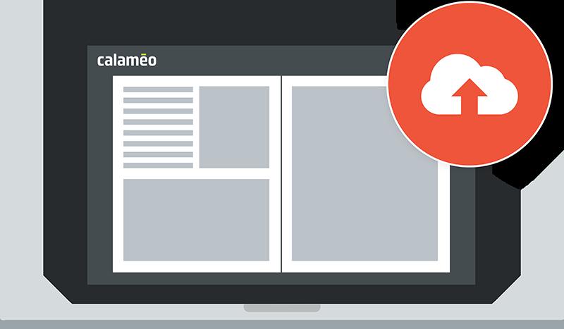 Digital publishing platform upload illustration