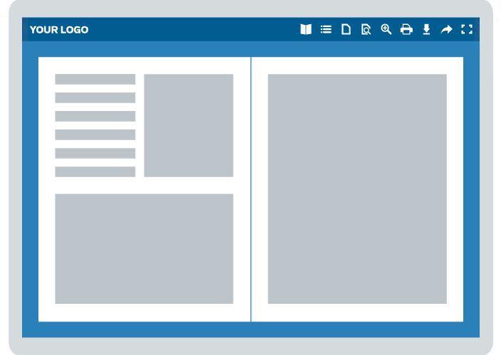 Illustration of digital publishing viewer