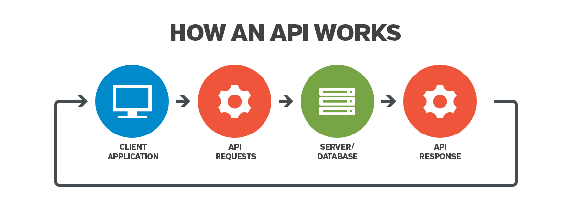 How an API works infographic