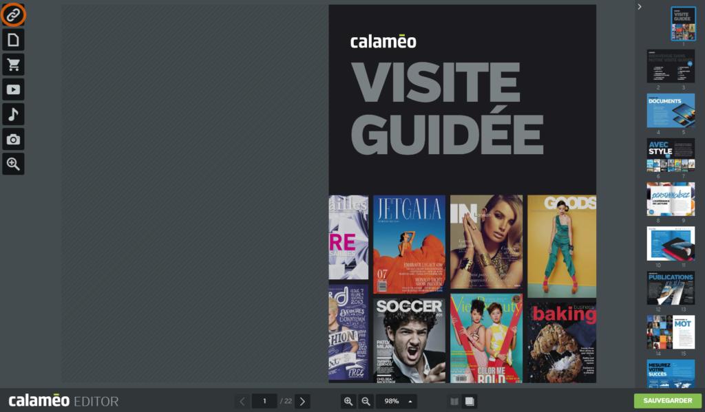Ajouter lien externe avec l'Editor Calaméo